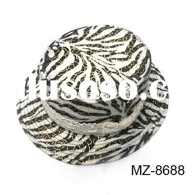 fashion ladies zebra-stripe hats