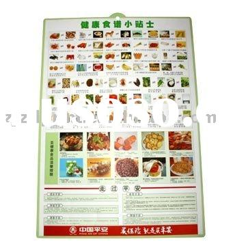fruit and vegetable children education wall chart