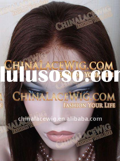 full light brown and dark brown color full lace wigs and wef thair