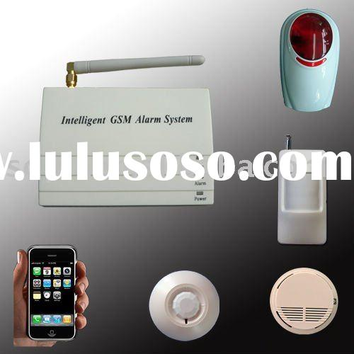 gsm alarm home wireless for building with fence, beams detectors