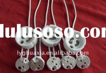 halogen lamp proclain and silicon cable GU10 Sockets Bases Holders