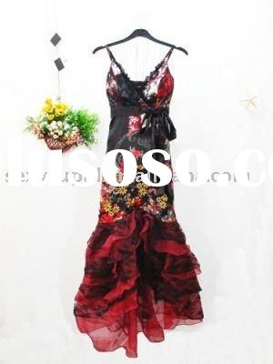 hot sale bright-coloured fashionable popular ladies evening dress 2011