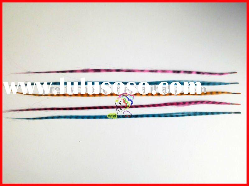 hot sale cheap synthetic feather hair extensions