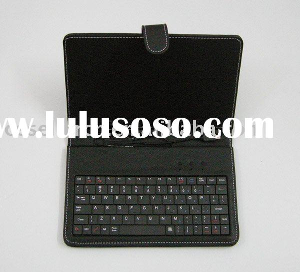 """leather case keyboard for 7"""" android 2.1 tablet pc"""
