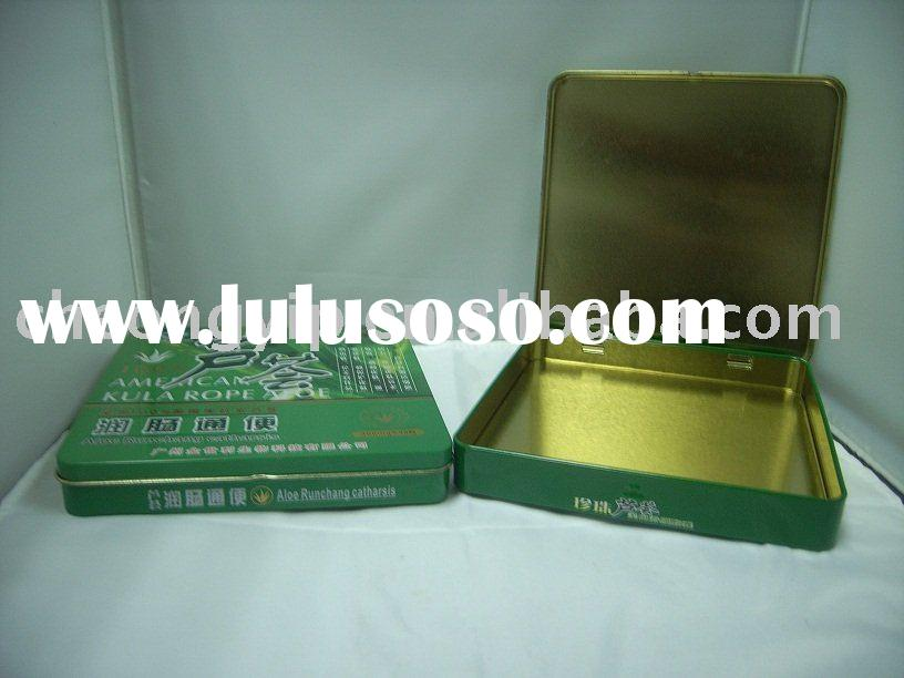 medicine tin box hinge series lid open lock seam can