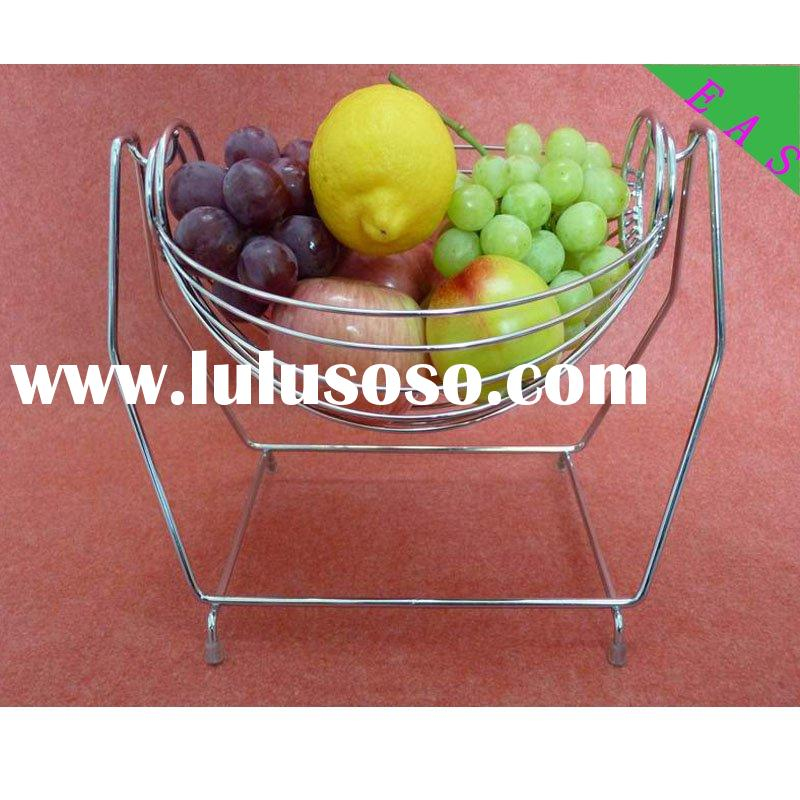 metal fruit and vegetable holder iron wire fruit stand stainless steel hang fruit bketas