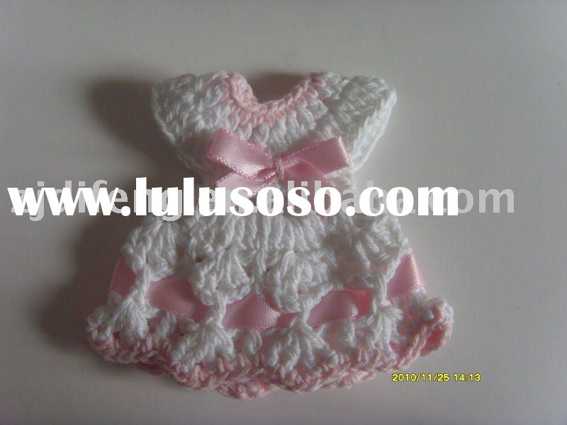 mini crochet dress/ knitted baby shower favor/wedding favor