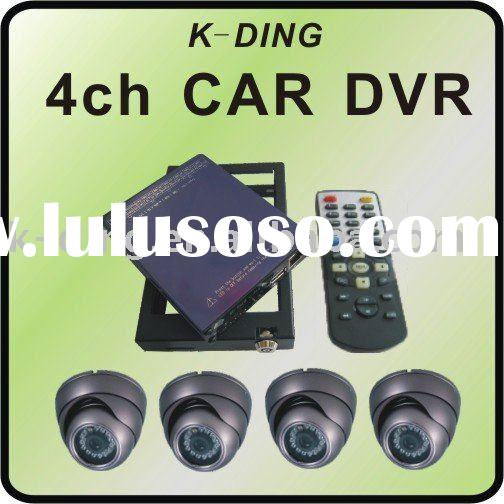 mobile 4 channel D1 mini car or bus dvr system with 4 cameras support GPS can be used in bus car shi