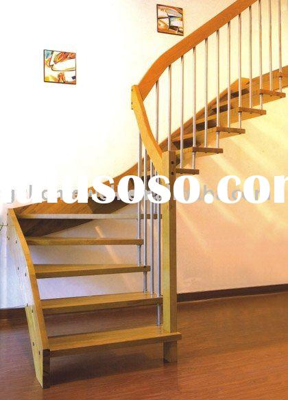 oak solid wooden spiral stairs