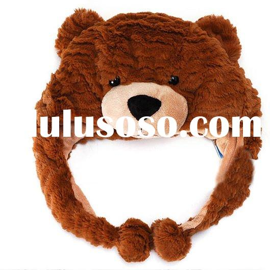 plush bear hats winter hats animal shape hats