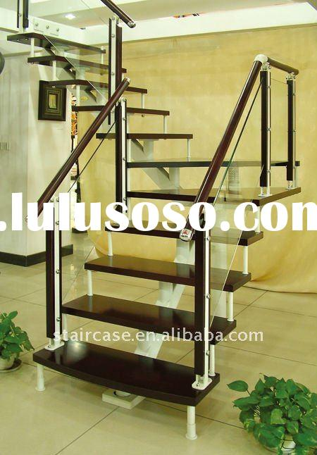 Portable Steel Stairs : Modular wood steel stairs for sale price china