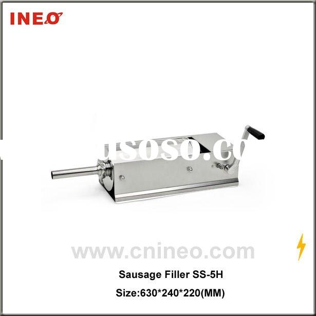 small kitchen manual light sausage stuffing machine with stainless steel material for kitchen