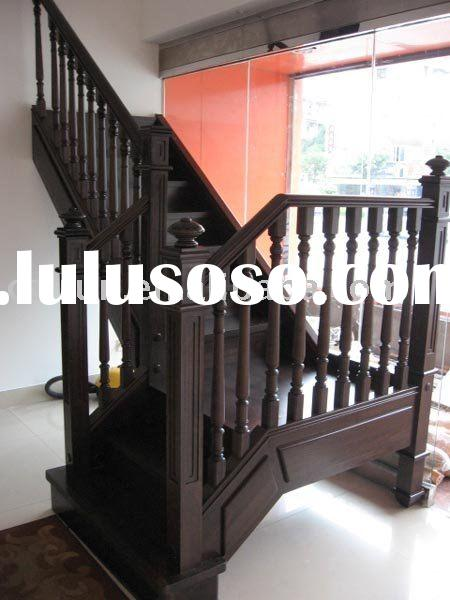 solid wooden stairs design