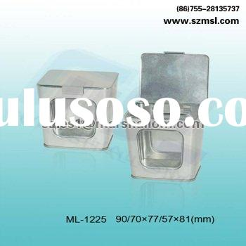 square tin packaging box