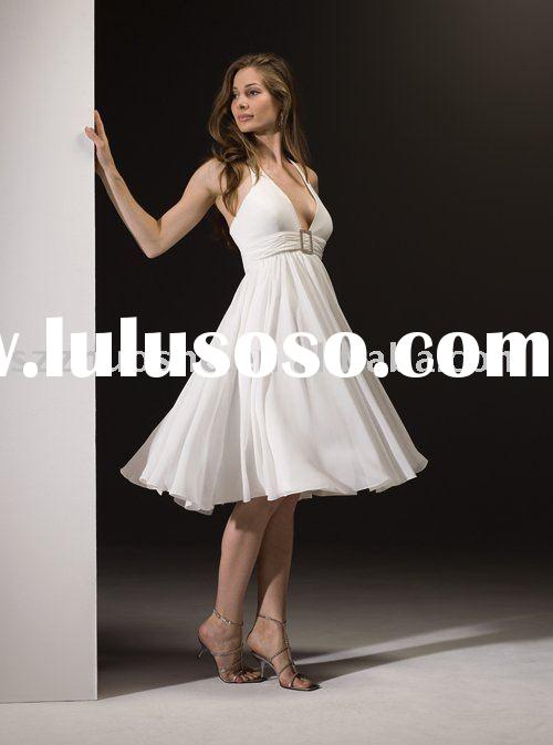 white short evening gown WG1367