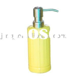 yellow soap dispenser with pump