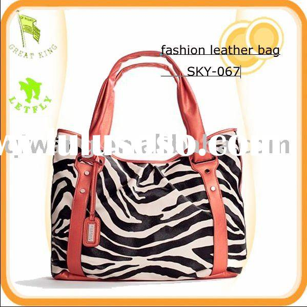 2011 high fashion zebra print tote bags for ladies