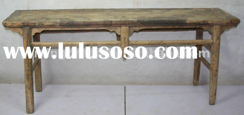 Chinese Antique Rustic Natural Wood Table