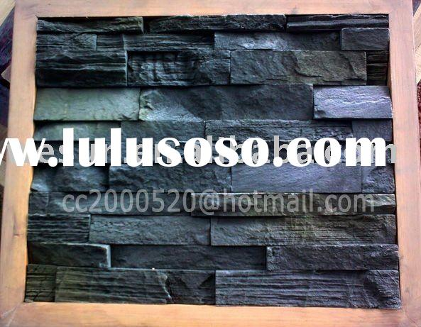 Eco-friendly Artificial Culture Slate Stone Wall Panel-No Radiation or Formaldehyde