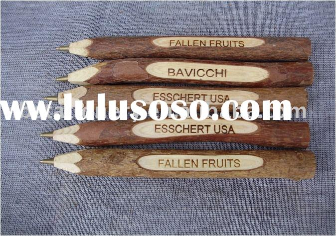 Natural wooden ball pen