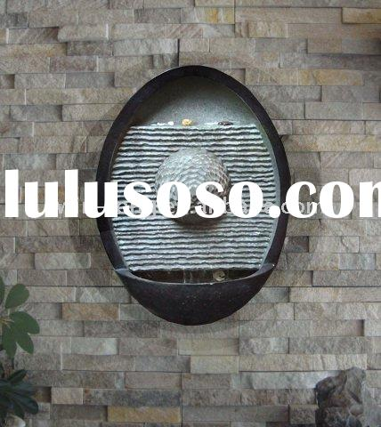 Poly oval shape wall waterfall fountain
