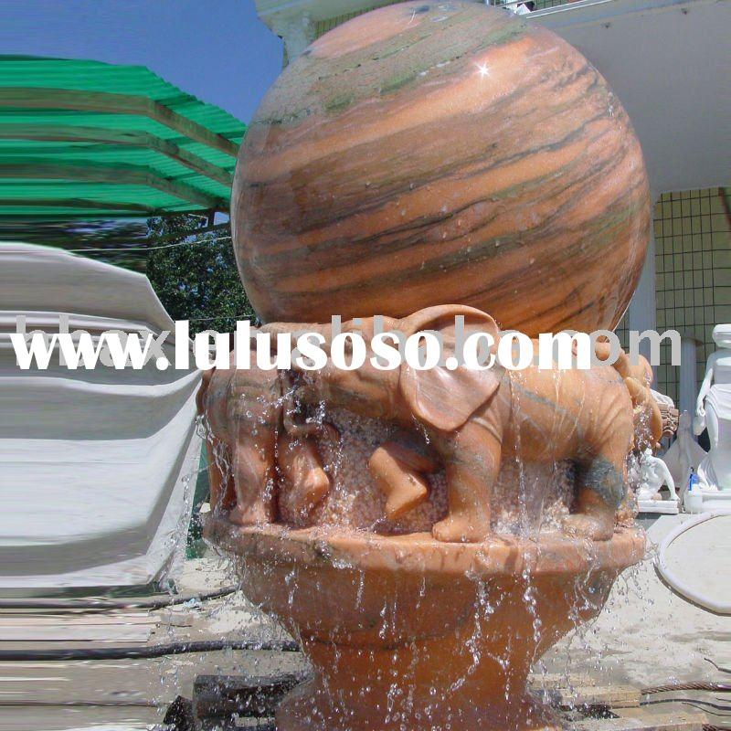Rolling sphere fountain