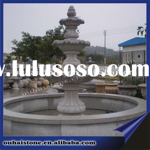Stone water fountain with pool(high 180cm)