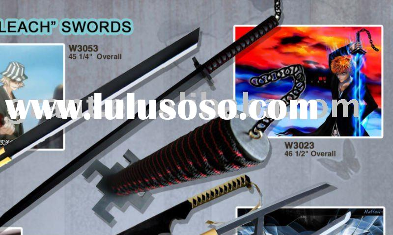anime bleach sword/cartoon sword/wooden sword/practice sword/martial arts sword/movie sword/weapon t