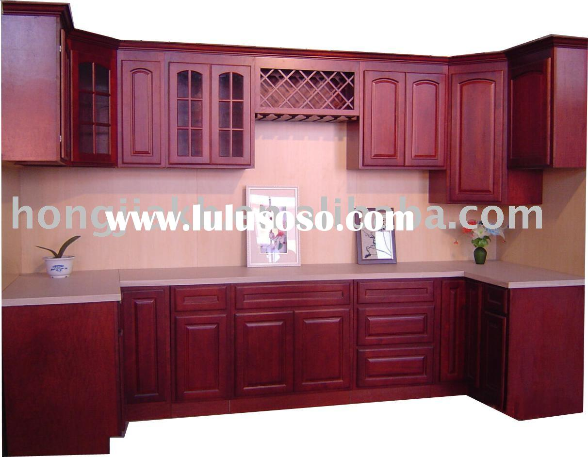 Cherry wood kitchen cabinets for sale price china for Cherry wood kitchen cabinets price