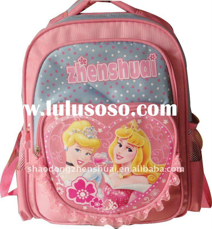 high qualtiy school bag with good design and beautiful carton picture