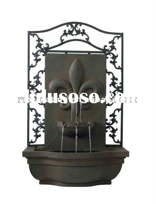 indoor waterfall wall water fountain with metal