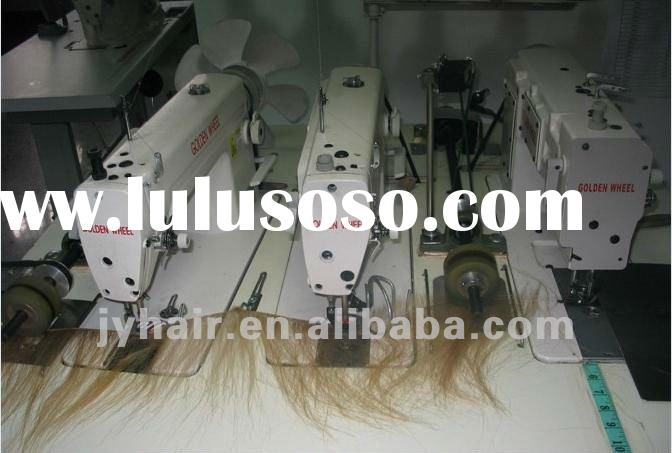 07hair wefting machine/Zoje three head weft weaving sewing machine for hair extension