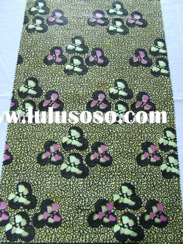 100% cotton pearl wax fabric/real wax fabric, African printed popular pattern
