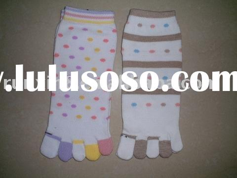 100% organic cotton children five toe socks