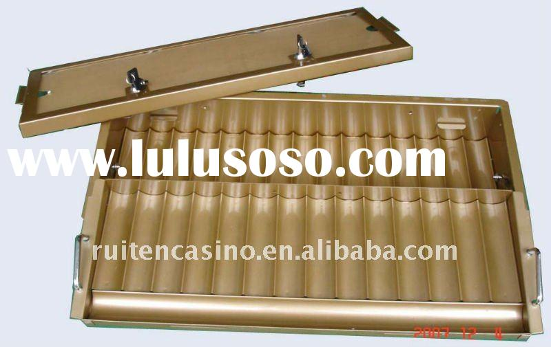 14/15row Double layer metal chip tray ,casino chip tray,chip tray