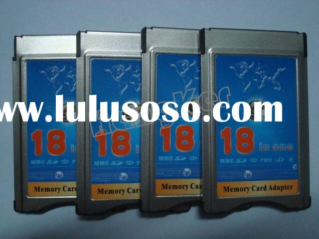 18 in 1 memory card adapter ,pcmcia cardbus