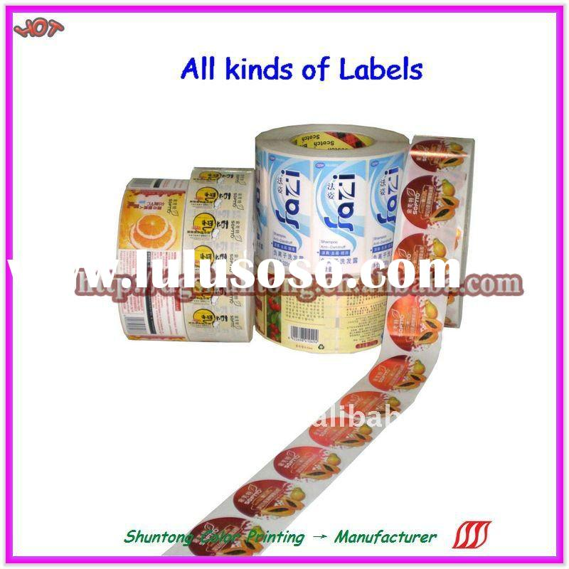 2011-HOT promotion printing adhesive Labels