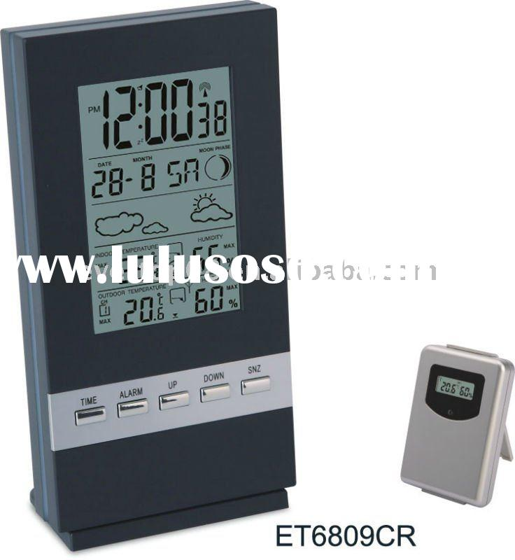 2011 NEWLY MODERN RADIO CONTROLLED WEATHER STATION ET6809CR