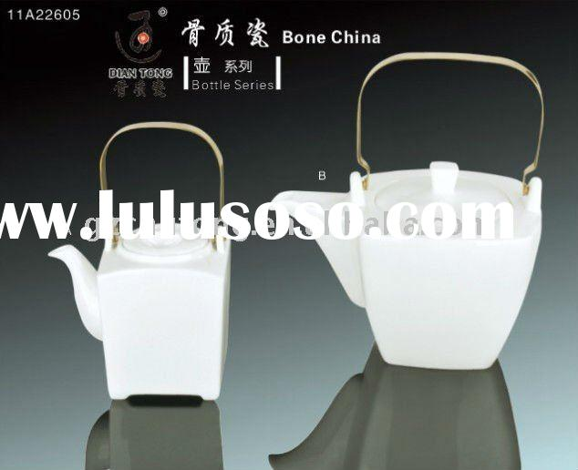 2011 NEW design,Bone china white ceramic coffee/tea pot , water pot&sets ,fine porcelain, tastef