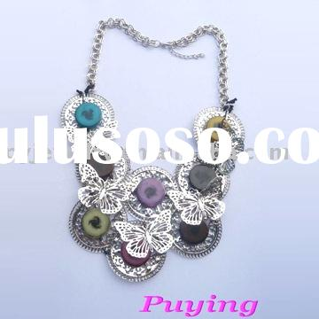 2011 bohemian fashion alloy female handmade chain necklace jewelry