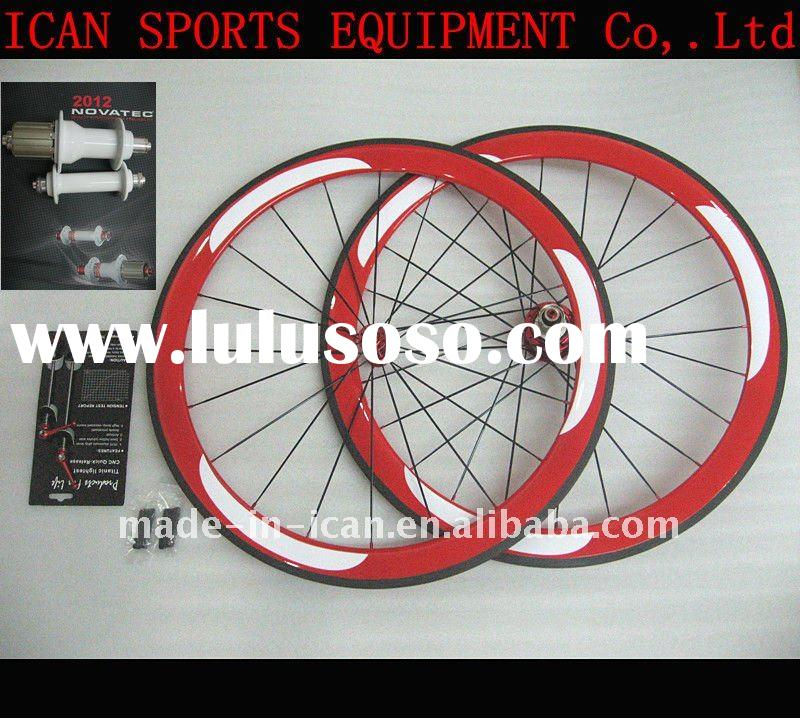 2011 carbon road clincher wheelset & Novatec hubs wheelset 50mm carbon clincher wheelset road bi