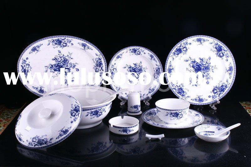 2011 chinese traditional antique style blue and white porcelain