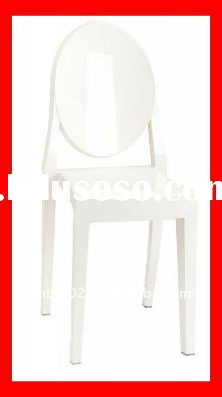 2011 new stacking white garden plastic chairs DN111