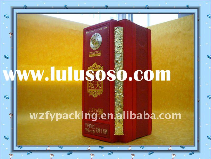2011 well popular high-end PU red wine bottle box