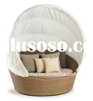 2012 Hot sale SG-7008 Elegant black rattan deck chair furniture