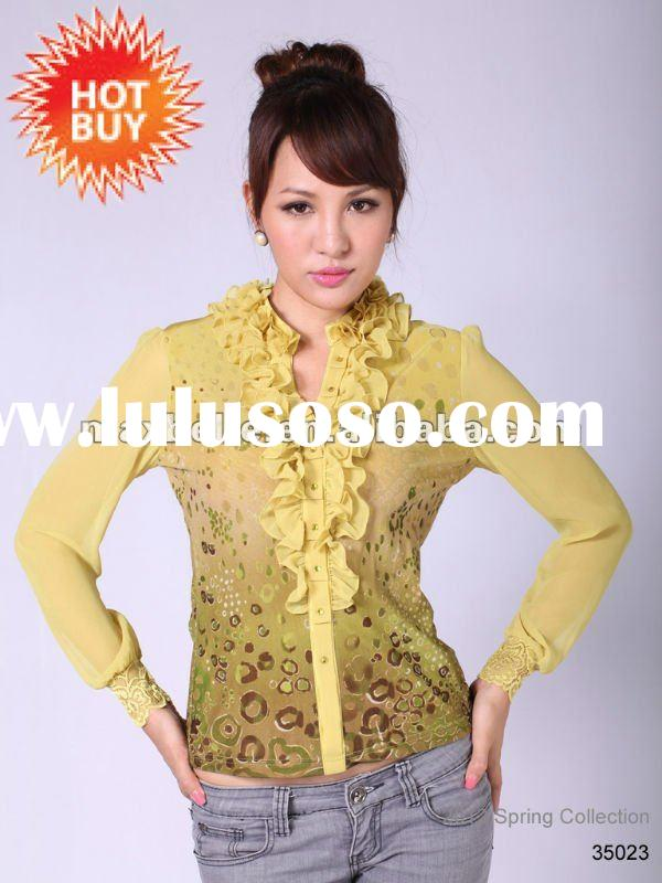 Knitting Wear Manufacturers : Lady garment top brands for sale price china