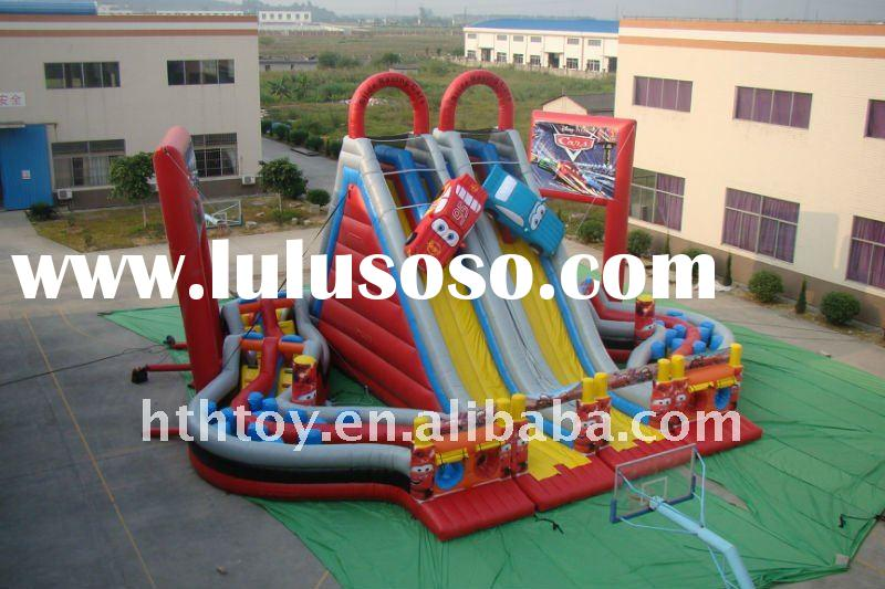 Big Inflatable Car Slide