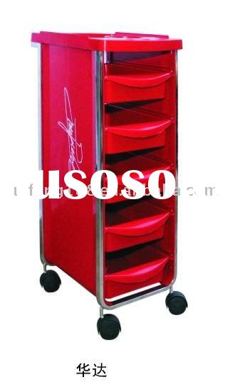 2012 hot sale good quality red color salon equipment hair salon trolley 066