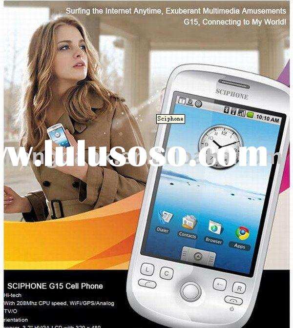 "3.2"" 208Mhz G15 WIFI GPS TV JAVA PDA Phone 2GB"