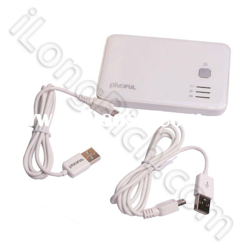 5000 mAh PIVOFUL PMC-500 Portable Battery Power Charger For iPhone/iPad/HTC/other Smart Devices